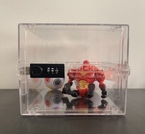 Lockable box for toys