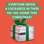 Lockabox One Christmas | storage box with lock - combination lock box