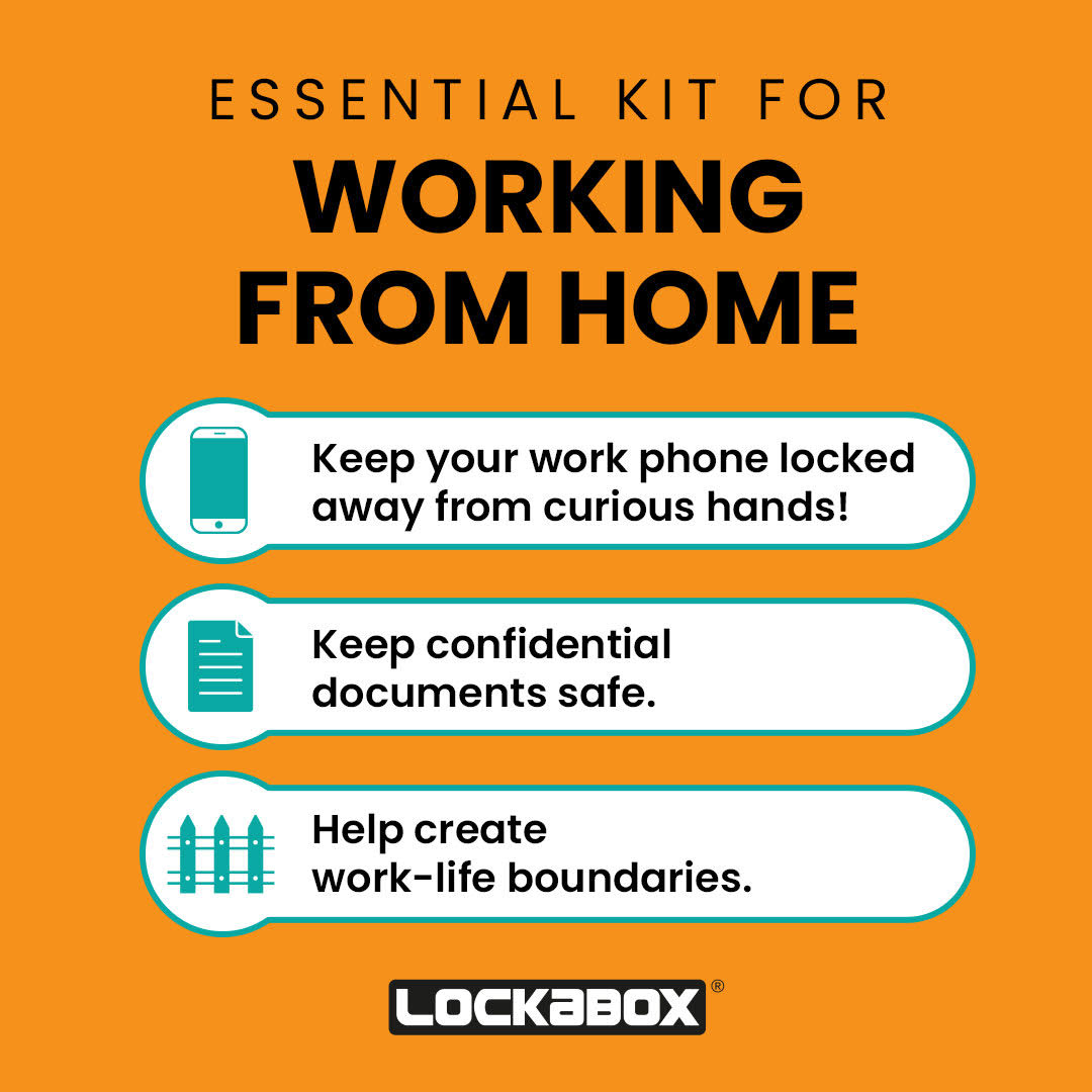 personal safe - working from home desk locker