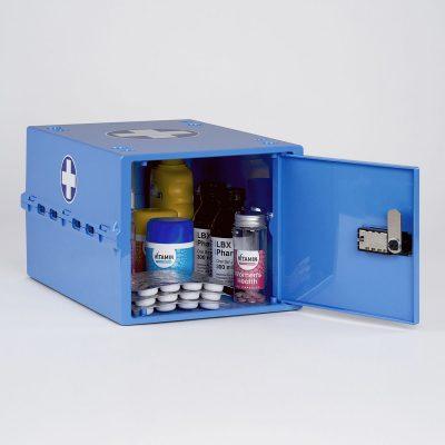 Lockabox One Medi Blue Lockable Medicine Box