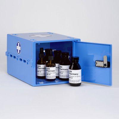 Lockabox One Medi Blue | Lockable medicine box
