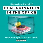 Hygienic lockable box | PPE storage in the workplace